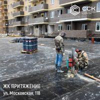 """Фотоотчет о строительстве ЖК """"Притяжение"""" за 21 марта 2018 г."""