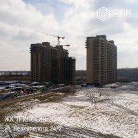 """Фотоотчет о строительстве ЖК """"Трилогия"""" за март 2018 г."""