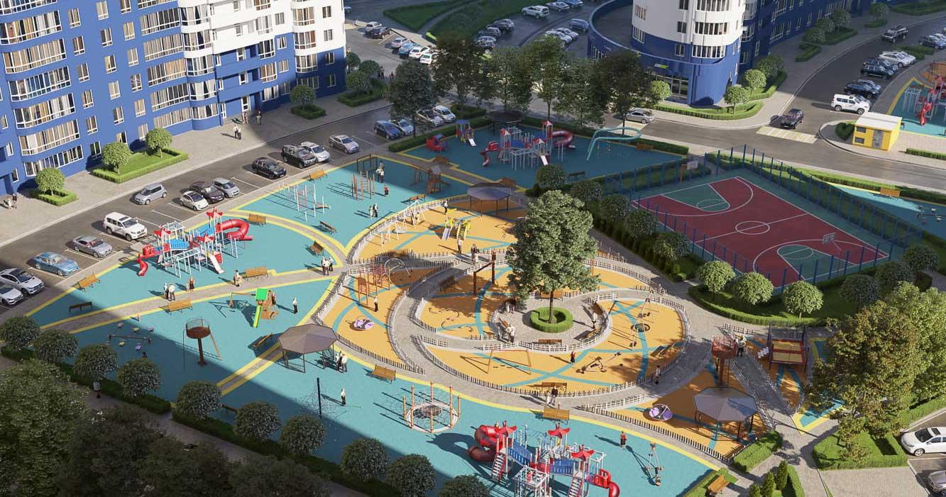 Детская площадка в ЖК Фонтаны